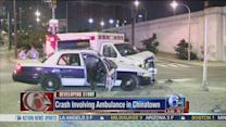 2 injured in ambulance, taxi cab collision in Chinatown