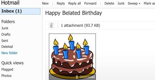 Hotmail turns 15, checks spam folder for misfiled birthday wishes