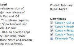 Xcode 4 posted to developers, pulled, may hint at 10.7 beta release