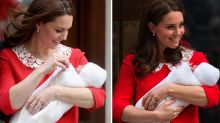 Can you spot the eerie detail about Kate Middleton's baby reveal dress?