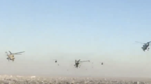 Swarm of Helicopters Flies Over Baghdad as Iraq Declares Victory Over ISIS