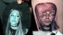Artist gets Ariana Grande tattoo with 'terrible' giant forehead