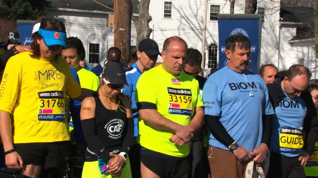 Boston Marathon: A moment of silence to remember the victims