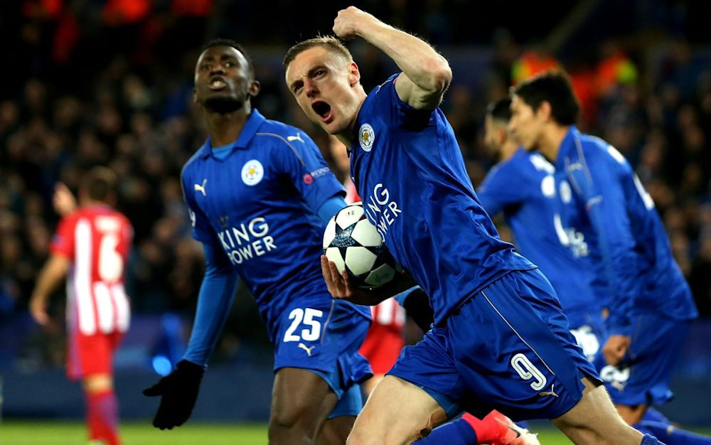 Jamie Vardy gives Leicester hope and reward for their boldness in the second half - Rex Features