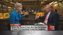 Sen. Warren tells Cramer about her plan to make companies...