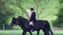 Queen Elizabeth, 92, Enjoys a Morning Horseback Ride After the Arrival of Her Great-Grandson