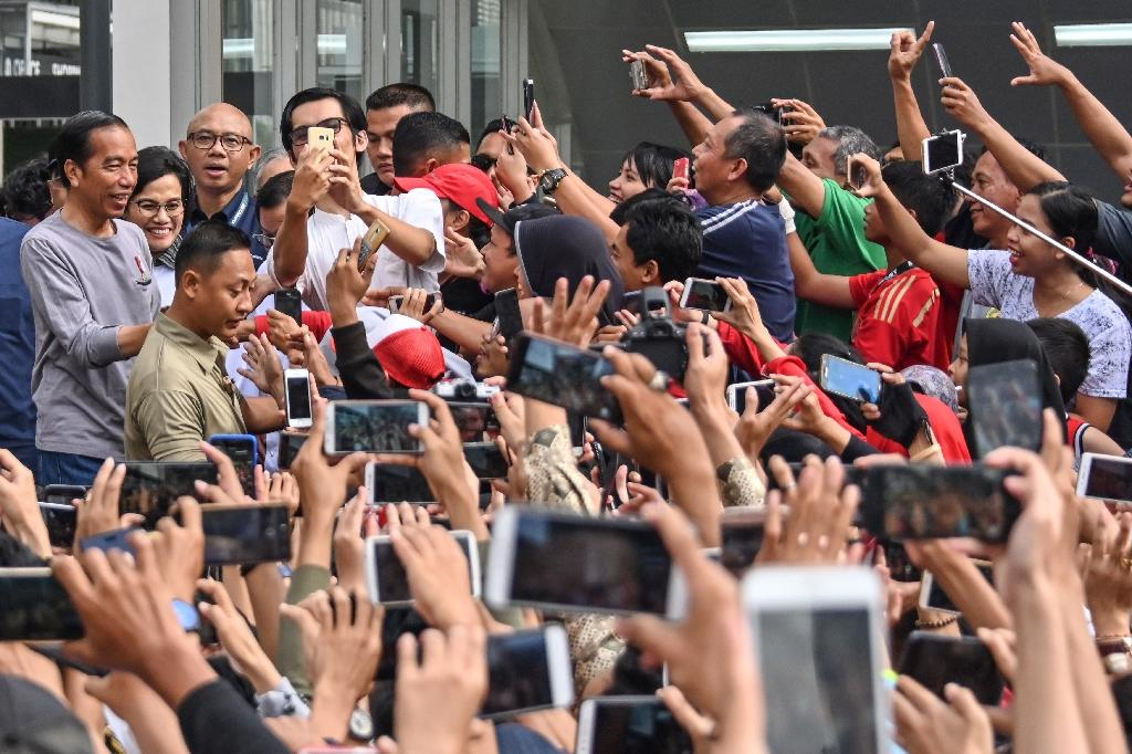 President Joko Widodo was among those on hand to unveil the new metro line (AFP Photo/BAY ISMOYO)