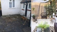 Thrifty woman transforms dull patio into incredible garden dining space for just £100