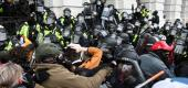 Rioters confront police at the U.S. Capitol. (ABC News)