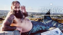 This calendar of bearded, burly men in fish tails raised nearly $250,000 for charity