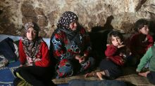 Fleeing the bombs, Syrians set up camp underground