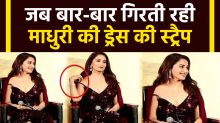 When Madhuri Dixit Became Very Uncomfortable Because Of Her Dress Shoulder Strap Falling