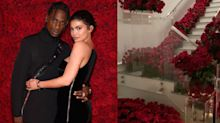 Travis Scott Filled Kylie Jenner's House With Red Roses Tuesday Night, Just Because