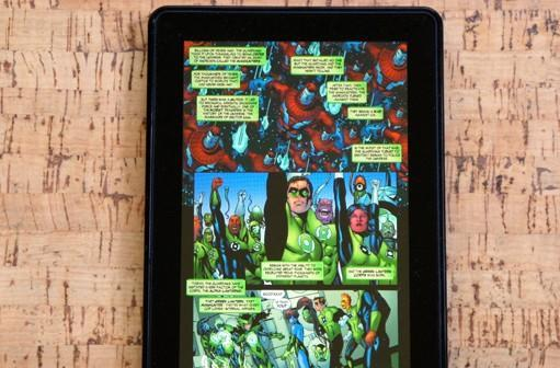 Comics on the Kindle Fire and Nook Tablet hands-on (video)