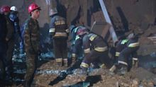 Rescuers search after deadly rocket attack