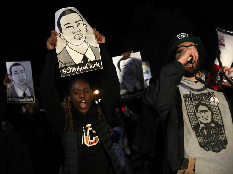 Stephon Clark shooting: Protests over lack of charges for police who shot dead unarmed black man