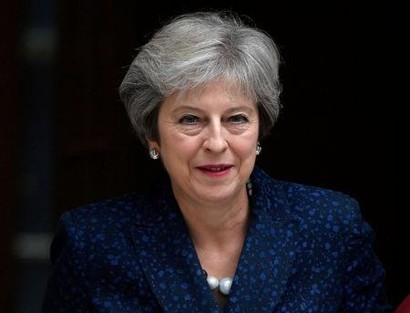 FILE PHOTO: Britain's Prime Minister Theresa May leaves 10 Downing Street in London, September 12, 2018. REUTERS/Toby Melville/File Photo