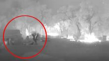 'Looked like Armageddon': Man's CCTV captures harrowing moment