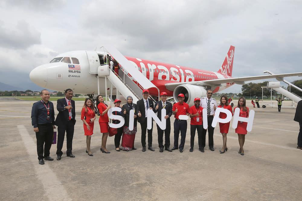 AirAsia launches Ipoh-Singapore route