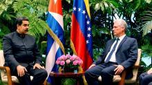 Presidente cubano recebe venezuelano em primeiro compromisso internacional