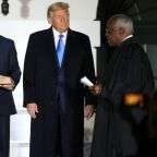 Trump celebrates at White House as Supreme Court nominee confirmed