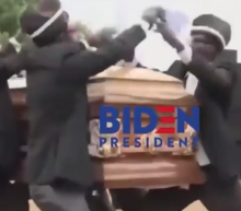 Trump shares disturbing meme of Biden's campaign in a coffin