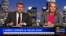 James Corden's and Helen Hunt's deep investigation into #WhoBitBeyoncé