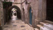 Jerusalem's Via Dolorosa empty due to coronavirus fears