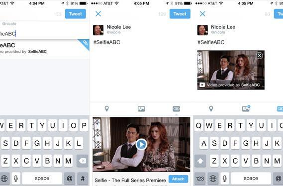 Twitter can now prompt attachments via hashtag