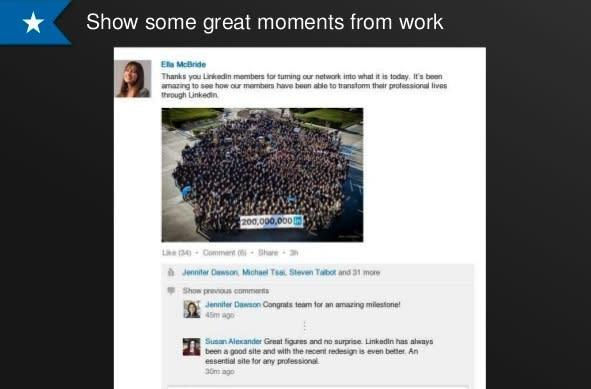 LinkedIn status updates can now include photos, other types of files
