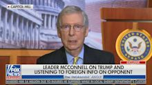 Mitch McConnell claims uproar over Trump comments are really about 2016 election