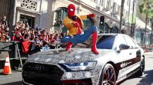 Audi's all-new A8 makes disguised debut at the 'Spider Man: Homecoming' film premiere