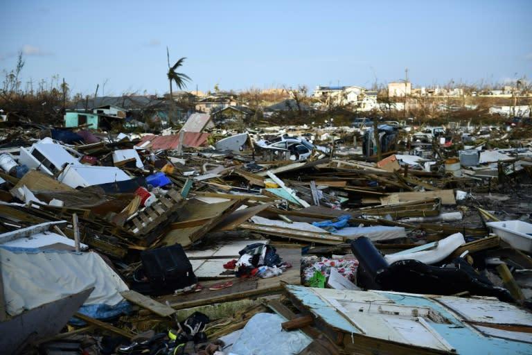 The Mudd neighborhood, where many Haitian migrants lived, was decimated by Hurricane Dorian (AFP Photo/Brendan Smialowski)