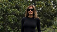 Melania Trump's Travel Look Is Pricey and on Point