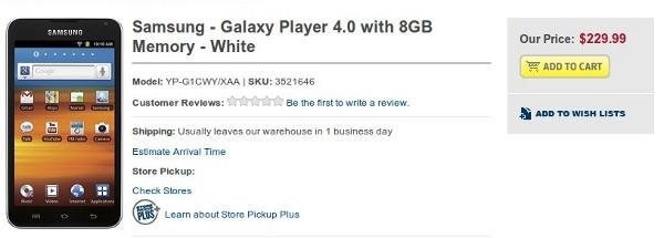 Galaxy Player 4.0 and 5.0 land on shelves, deliver Gingerbread without the phone