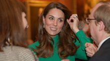 Duchess of Cambridge looks glamorous in green Emilia Wickstead at NATO reception