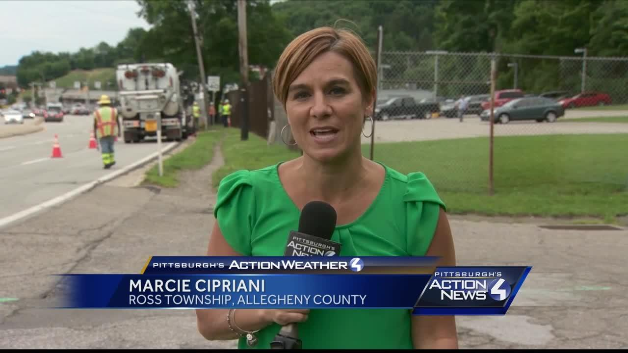 Collapsed pipe blamed for flooding on McKnight Road