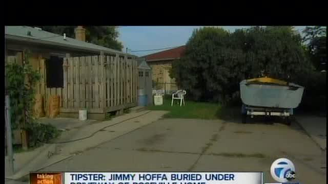 Roseville Police Search For Jimmy Hoffa's Body