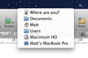 Mac 101: Locating the root path of a Pages document in Pages