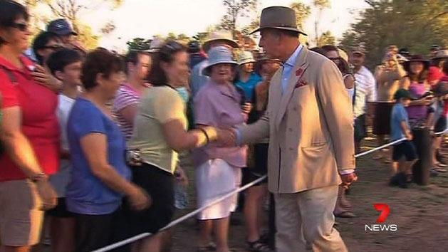 Royal arrive to warm welcome