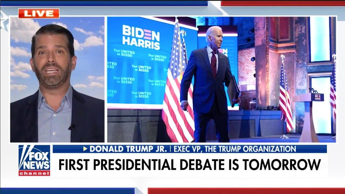 Don Jr. Didn't Get the Memo About Raising Biden Expectations Before Debate