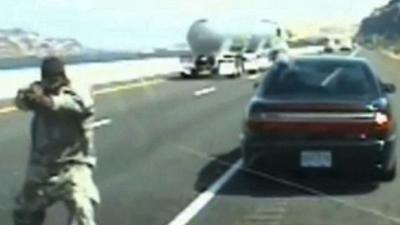 Raw: Oregon State Trooper Involved in Shootout