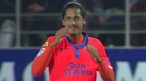 Video: a free-kick Ronaldo would be proud of from Mauricio Lemos of Las Palmas
