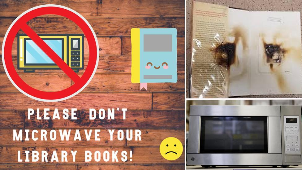 Why people are microwaving library books