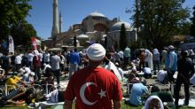 First Islamic prayers held in Turkey's Hagia Sophia since mosque reconversion