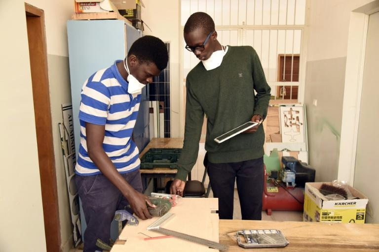 Students at Dakar's Ecole Superieur de Polytechnique (ESP) engineering school are taught to focus on practical projects and entrepreneurship (AFP Photo/Seyllou)