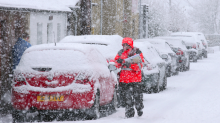The beauty and chaos of Thundersnow as wintry conditions hit Britain