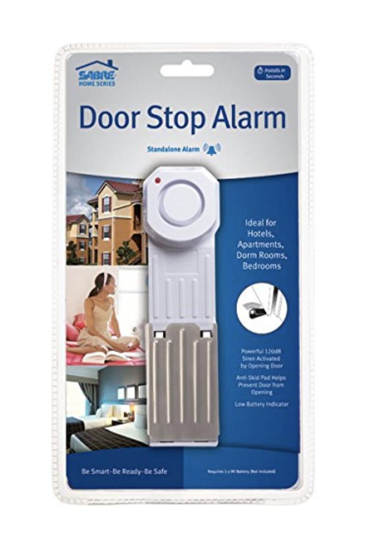 Sabre Wedge Door Stop Security Alarm with 120dB Siren