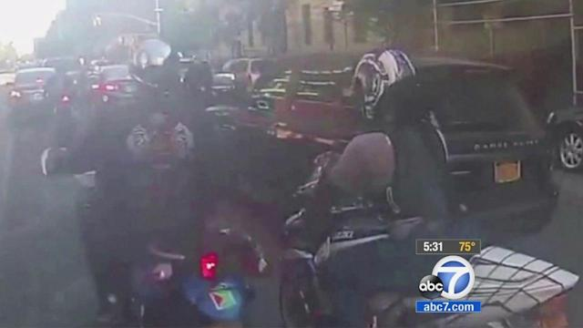 NYC biker attack: 3rd man in custody; injured biker's family speaks out