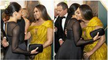Meghan Markle and Beyoncé share a hug at Lion King premiere